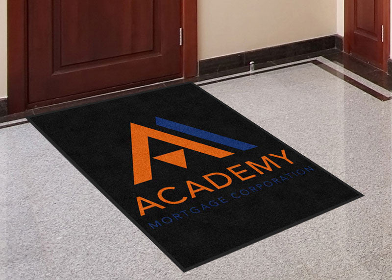 Academy Mortgage 3 X 4 Rubber Backed Carpeted HD - The Personalized Doormats Company