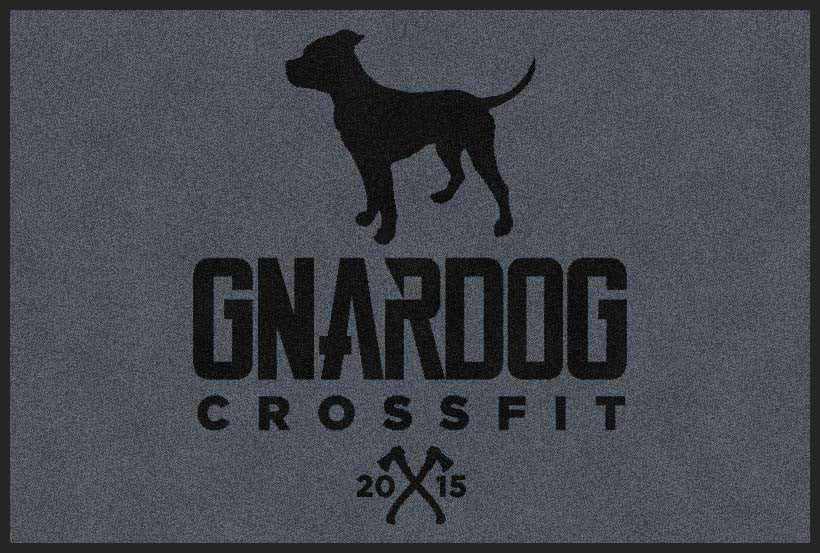 Gnardog CrossFit 2 X 3 Rubber Backed Carpeted HD - The Personalized Doormats Company