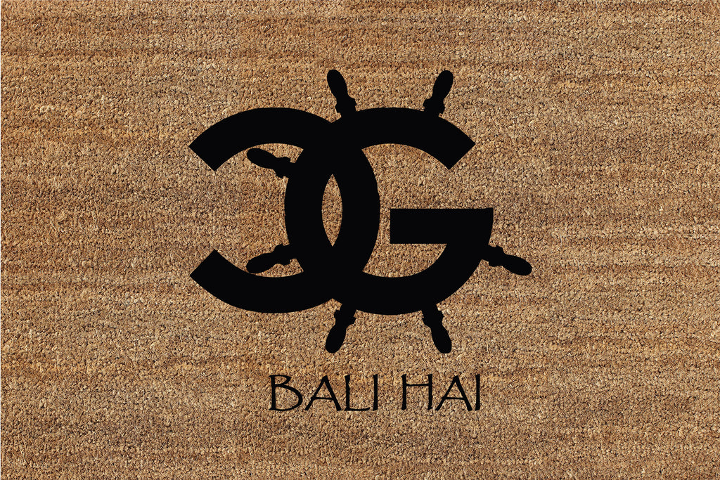 CG LOGO (Bali Hai) 2 X 3 Flocked Classic Coir (PDC) - The Personalized Doormats Company