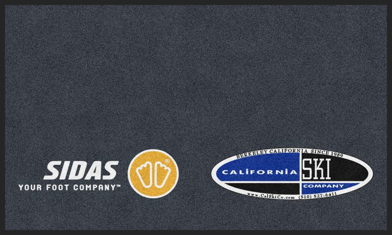 California Ski Company - Grey 3 X 5 Rubber Backed Carpeted HD - The Personalized Doormats Company