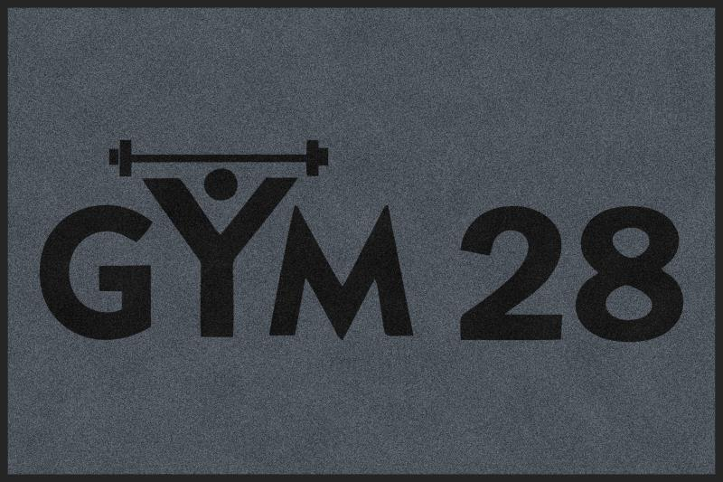Gym 28 4 X 6 Rubber Backed Carpeted HD - The Personalized Doormats Company