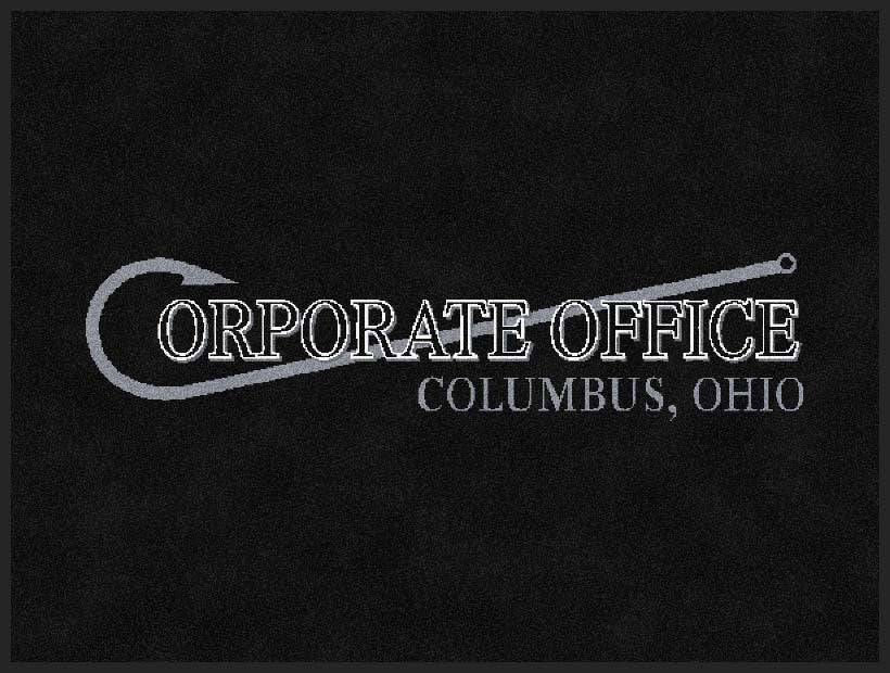 Corporate Office Boat 1.5 X 2 Rubber Backed Carpeted HD - The Personalized Doormats Company