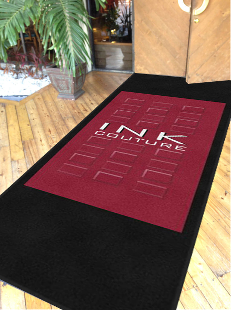 ink couture 4 X 12 Rubber Backed Carpeted HD - The Personalized Doormats Company