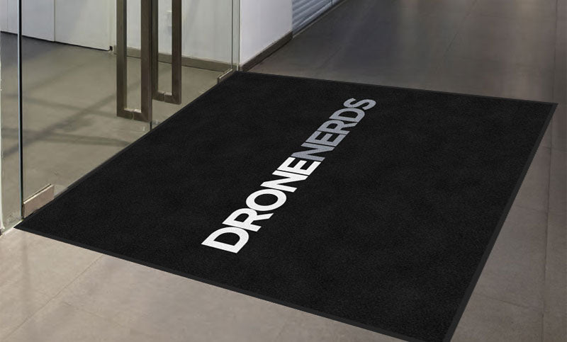 Drone Nerds fly cage carpet 6 X 6 Rubber Backed Carpeted HD - The Personalized Doormats Company