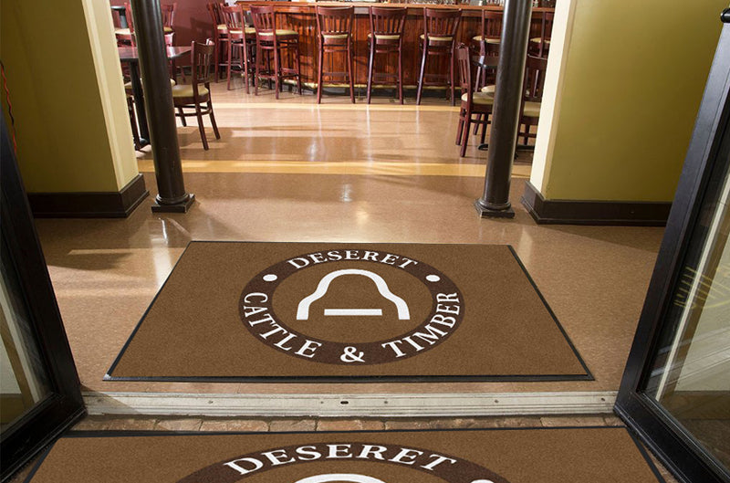 Deseret Cattle & Timber 4 X 6 Rubber Backed Carpeted HD - The Personalized Doormats Company