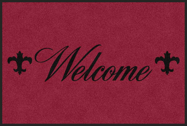 1055 Park View Drive Building Welcome 4 X 6 Rubber Backed Carpeted HD - The Personalized Doormats Company