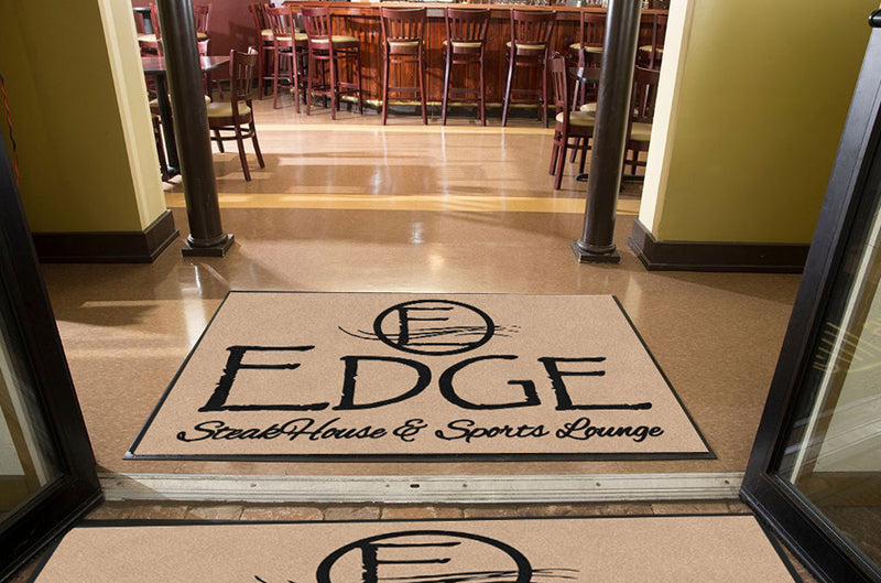 Edge Mat 4 X 6 Rubber Backed Carpeted HD - The Personalized Doormats Company