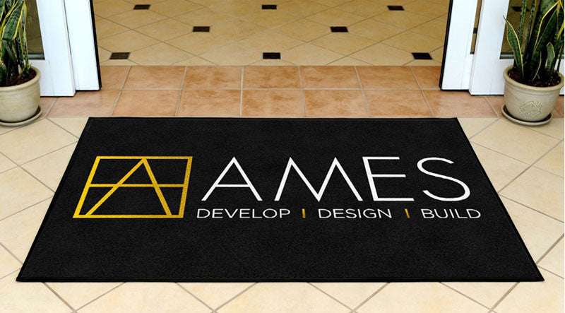 Ames Design & Build 3 X 5 Rubber Backed Carpeted HD - The Personalized Doormats Company