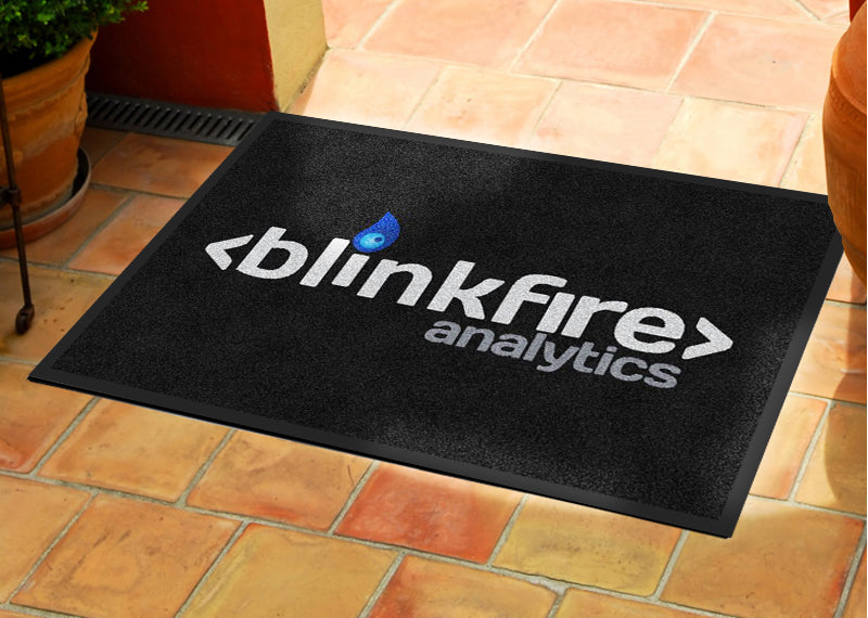 Blinkfire 2 X 3 Rubber Backed Carpeted HD - The Personalized Doormats Company