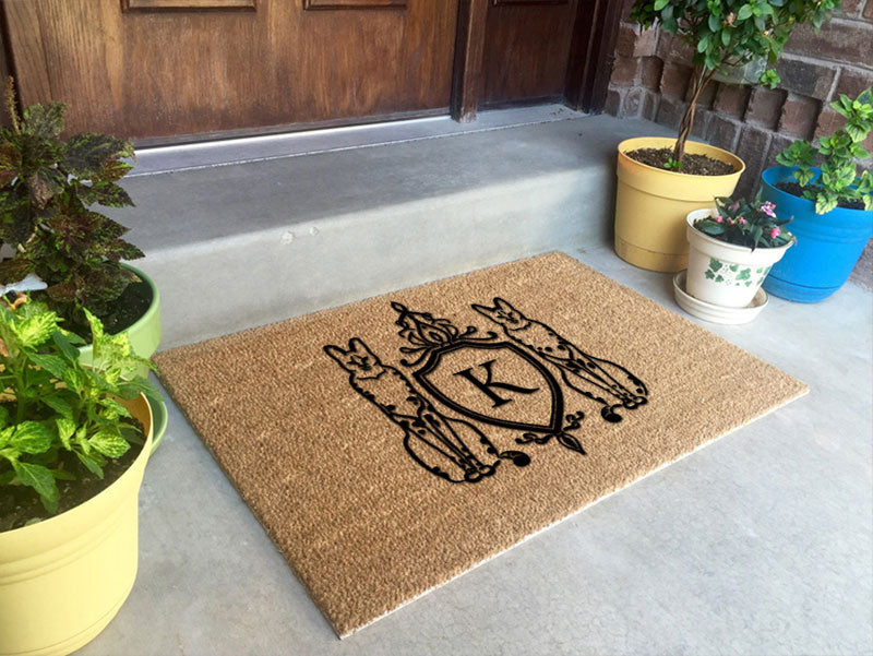 Door mat 2 x 3 Flocked Classic Coir (PDC) - The Personalized Doormats Company