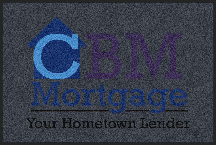 CBM Mortgage 4 X 6 Rubber Backed Carpeted HD - The Personalized Doormats Company