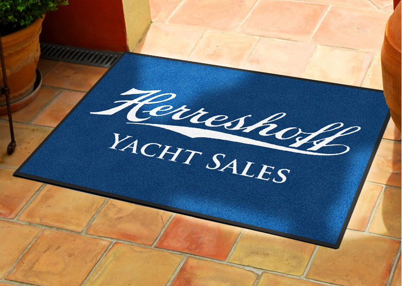 H yachts 2 X 3 Rubber Backed Carpeted HD - The Personalized Doormats Company