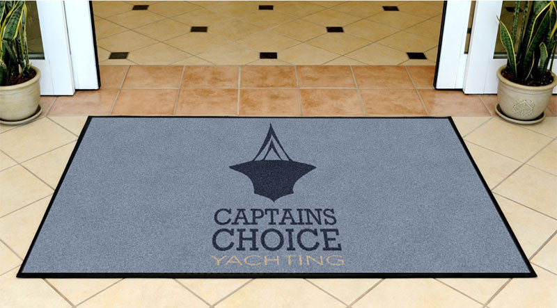 Captains Choice Mat 3 x 5 Rubber Backed Carpeted HD - The Personalized Doormats Company