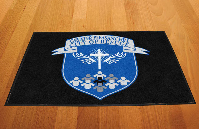 Greater Pleasant Hill 2 X 3 Rubber Backed Carpeted HD - The Personalized Doormats Company