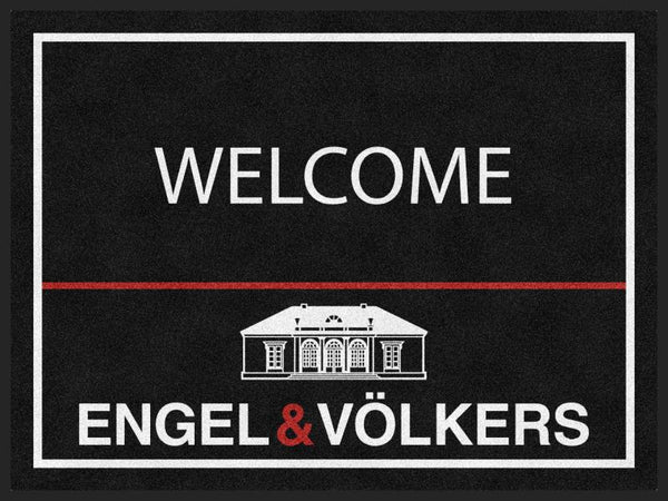 Engel & Volkers 3 X 4 Rubber Backed Carpeted HD - The Personalized Doormats Company
