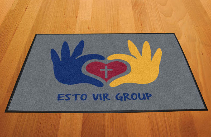 Esto Vir Group 2 X 3 Rubber Backed Carpeted HD - The Personalized Doormats Company