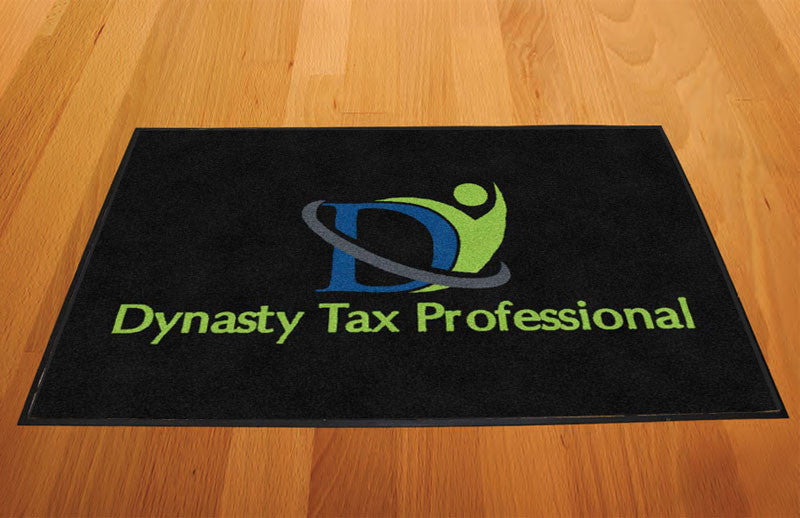 Dynasty Tax Professional 2 X 3 Rubber Backed Carpeted HD - The Personalized Doormats Company