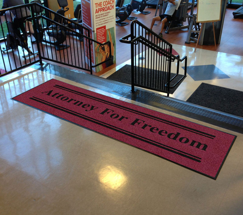 Attorney for Freedom 3 X 10 Rubber Backed Carpeted HD - The Personalized Doormats Company