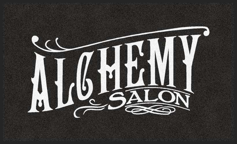 ALCHEMY SALON 3 x 5 Flocked Olefin 1 Color - The Personalized Doormats Company