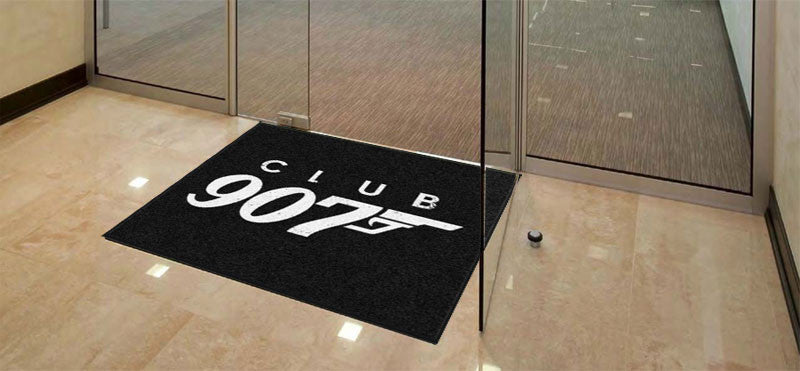 Club 907 Mat 3.75 X 3.92 Rubber Backed Carpeted HD - The Personalized Doormats Company