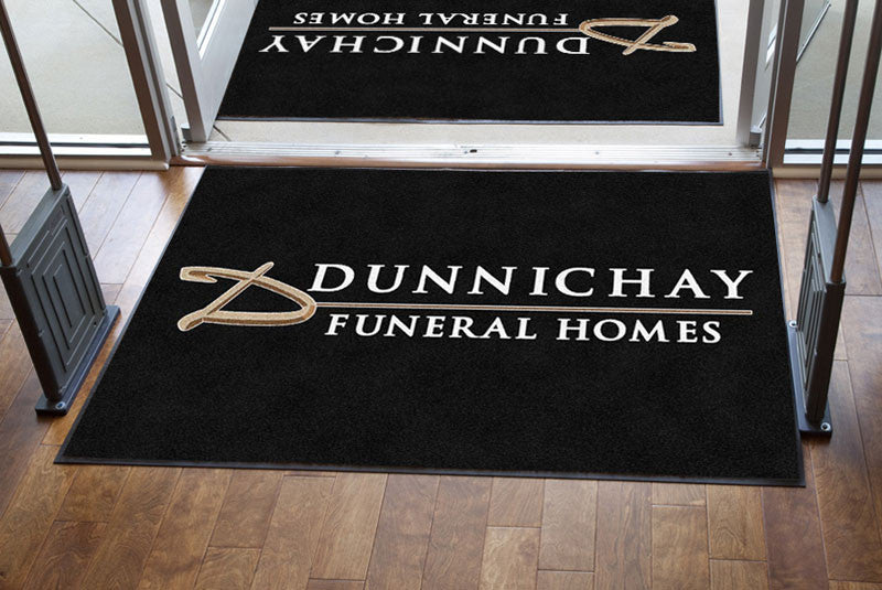 Dunnichay Funeral Homes 4 x 6 Rubber Backed Carpeted HD - The Personalized Doormats Company