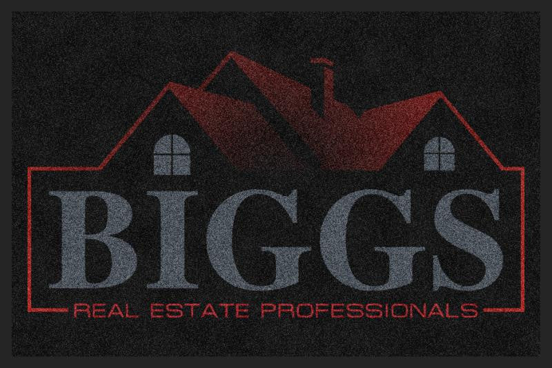 Biggs Real Estate Professionals 2 X 3 Custom Plush 30 HD - The Personalized Doormats Company