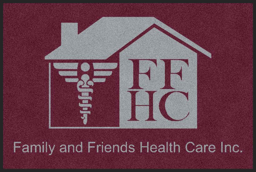 Family and Friends Health Care Inc. 2 X 3 Rubber Backed Carpeted HD - The Personalized Doormats Company