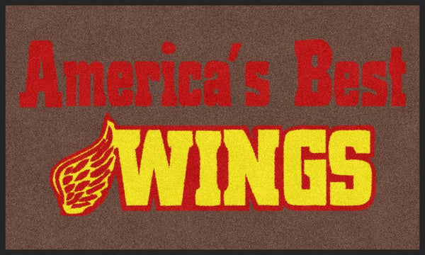 Americas Best Wings 4 X 6 Rubber Backed Carpeted - The Personalized Doormats Company