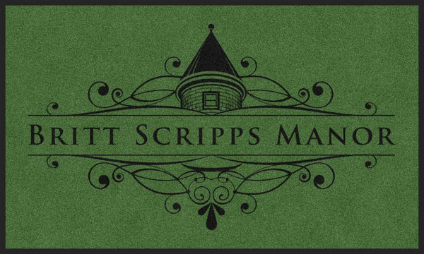 BRITT SCRIPPS MANOR (K9) 3 X 4 Rubber Backed Carpeted HD - The Personalized Doormats Company
