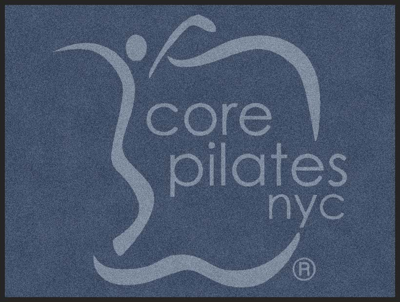 Core Pilates NYC 3 X 4 Rubber Backed Carpeted HD - The Personalized Doormats Company