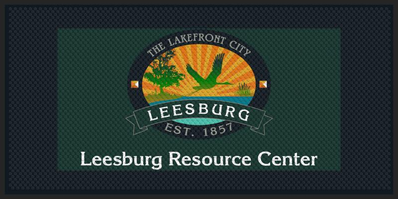 city of leesburg 4 X 8 Rubber Scraper - The Personalized Doormats Company