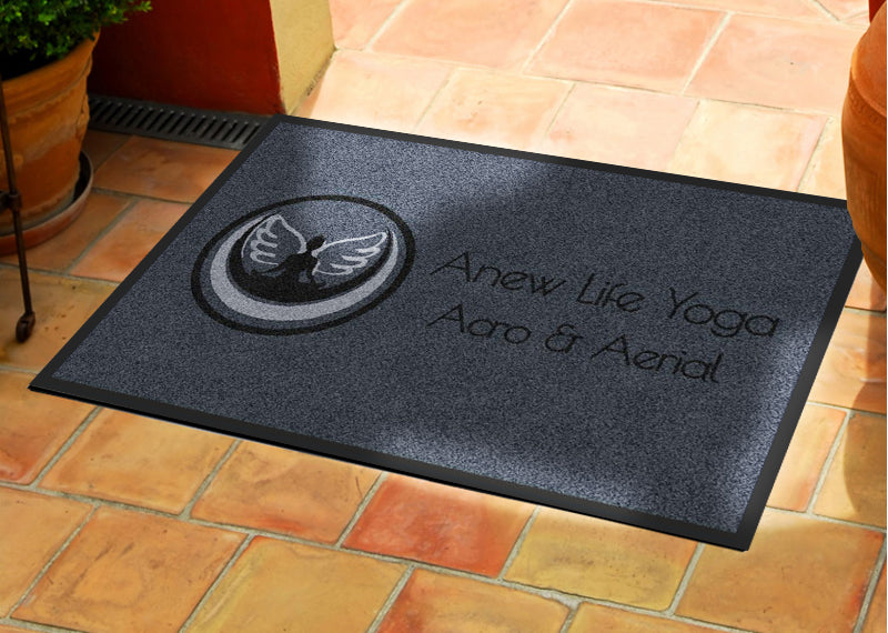 Anew Life Yoga 2 X 3 Rubber Backed Carpeted HD - The Personalized Doormats Company