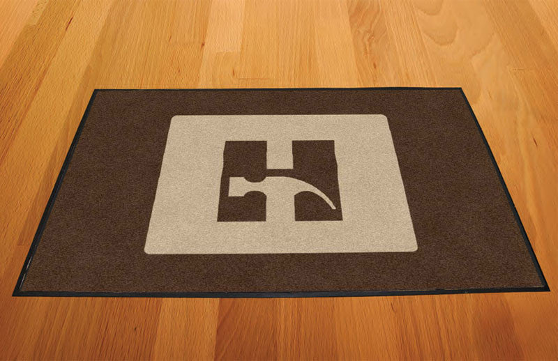 Darrin Hammer 2 X 3 Rubber Backed Carpeted HD - The Personalized Doormats Company