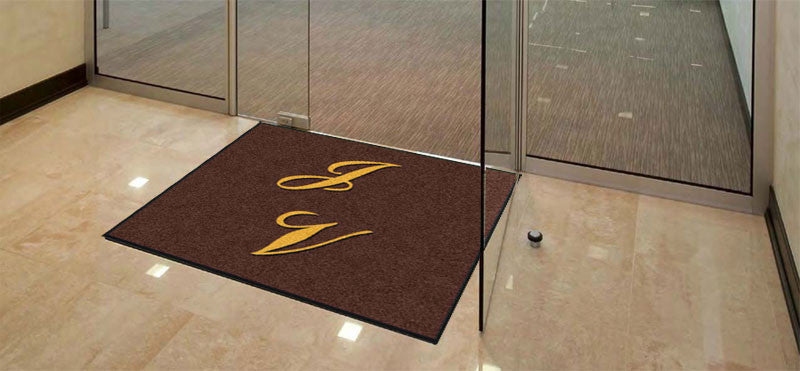 JACKSON VIEWS 4 X 4 Rubber Backed Carpeted HD - The Personalized Doormats Company