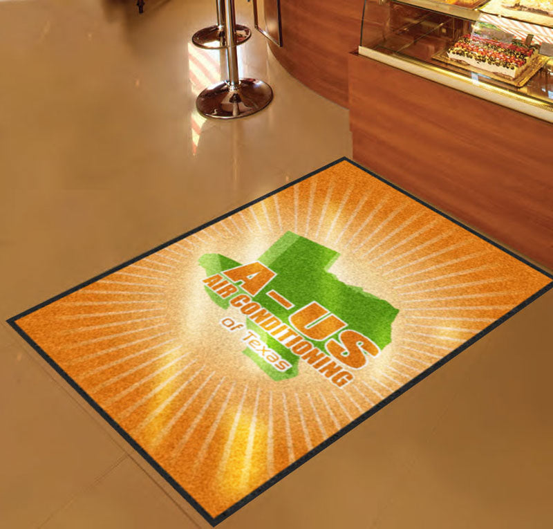 A-US 3 X 5 Rubber Backed Carpeted HD - The Personalized Doormats Company