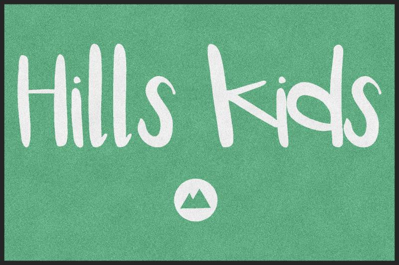 Hills Kids - Church of the Hills 4 X 6 Rubber Backed Carpeted HD - The Personalized Doormats Company