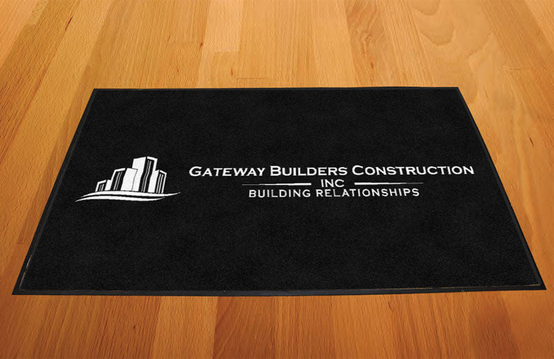 Gateway Builders 2 x 3 Rubber Backed Carpeted HD - The Personalized Doormats Company