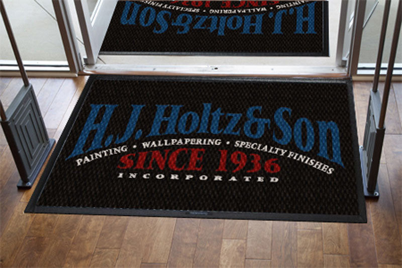 Holtz Entry Mat 4 X 6 Luxury Berber Inlay - The Personalized Doormats Company