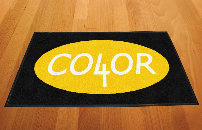 Color 4 1 X 2 Rubber Backed Carpeted HD - The Personalized Doormats Company