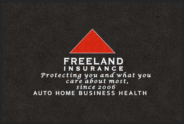 Freeland Insurance 4 X 6 Flocked Olefin 2 Color - The Personalized Doormats Company