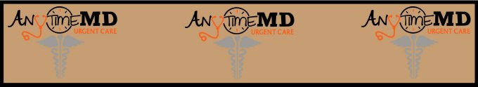 Anytime MD  Urgent Care 3 X 16.67 Luxury Berber Inlay - The Personalized Doormats Company