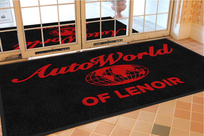 AutoWorld of Lenoir 4 X 8 Rubber Backed Carpeted - The Personalized Doormats Company