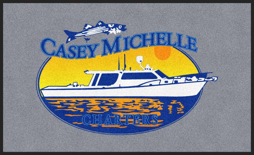 Casey Michelle Charters LLC 6 X 10 Rubber Backed Carpeted HD - The Personalized Doormats Company