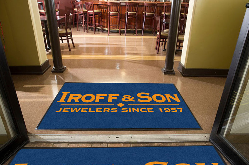Brian Iroff 4 X 6 Rubber Backed Carpeted HD - The Personalized Doormats Company