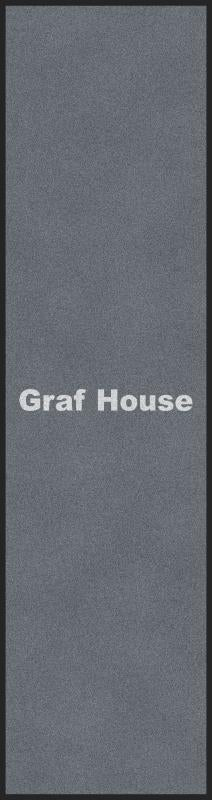 Graf house 2.5 X 9.17 Rubber Backed Carpeted HD - The Personalized Doormats Company