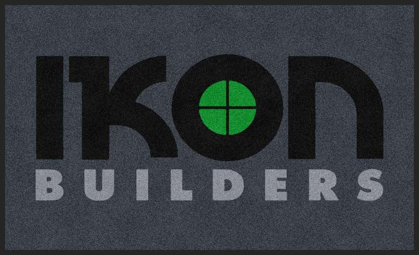 Ikon Builders 3 X 5 Rubber Backed Carpeted HD - The Personalized Doormats Company