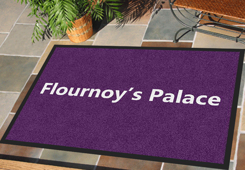 Flournoy's Palace 2 X 3 Rubber Backed Carpeted - The Personalized Doormats Company
