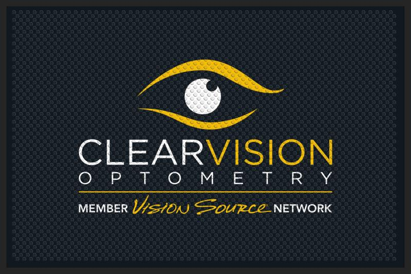 ClearVision Optometry 4 x 6 Rubber Scraper - The Personalized Doormats Company