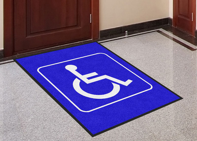 3x4 Handicap Mats 3 x 4 Rubber Backed Carpeted - The Personalized Doormats Company