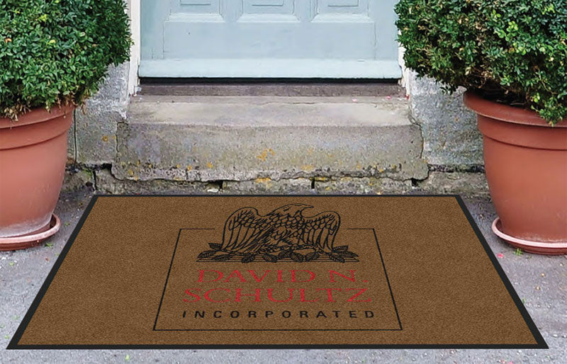 DNS Logo Mat 3 X 4 Rubber Backed Carpeted HD - The Personalized Doormats Company
